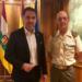 El Presidente del Parlamento riojano se reúne con el Coronel Pedro Mª Pejenaute